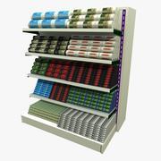 Dustbin Refuse Bags Shopping Shelf 3d model