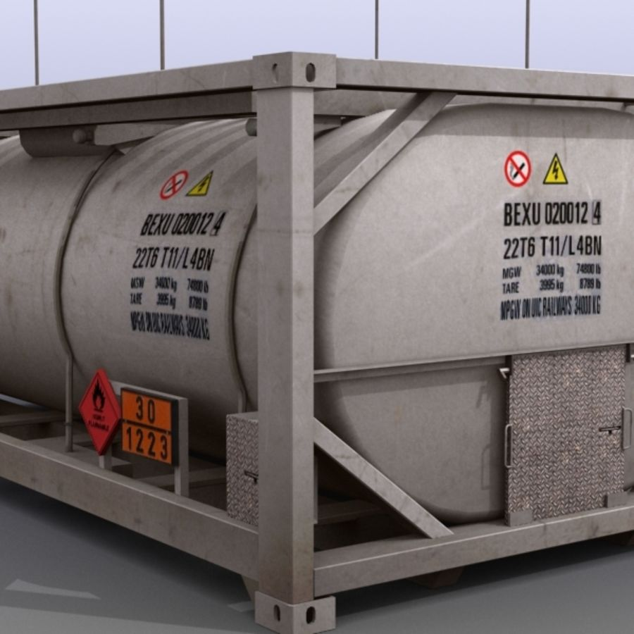 Tank Container Long royalty-free 3d model - Preview no. 10