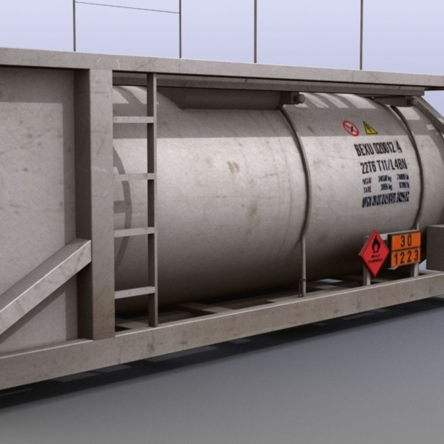 Tank Container Long royalty-free 3d model - Preview no. 9