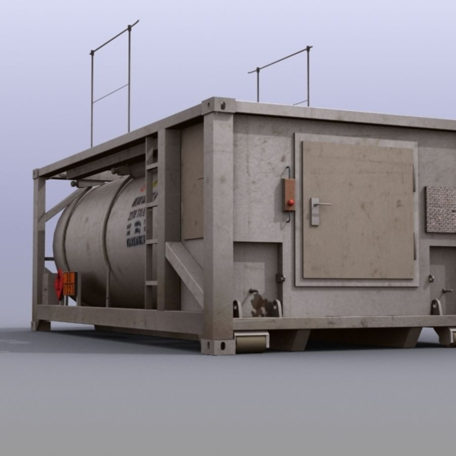 Tank Container Long royalty-free 3d model - Preview no. 4