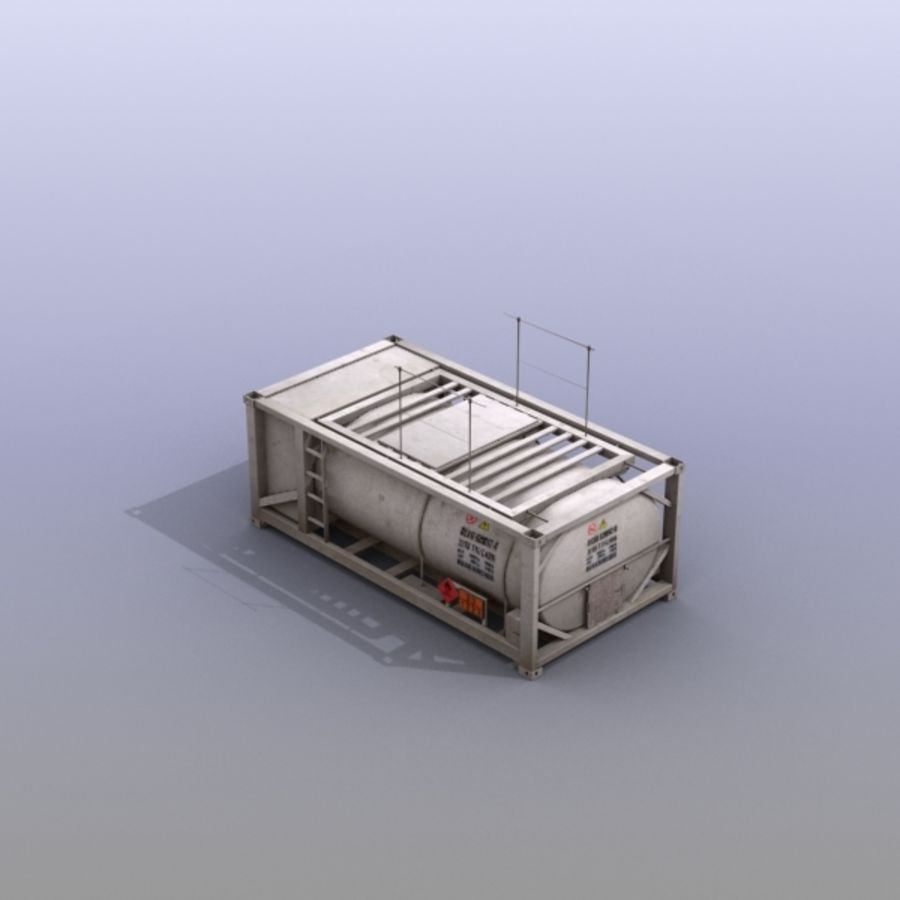 Tank Container Long royalty-free 3d model - Preview no. 11