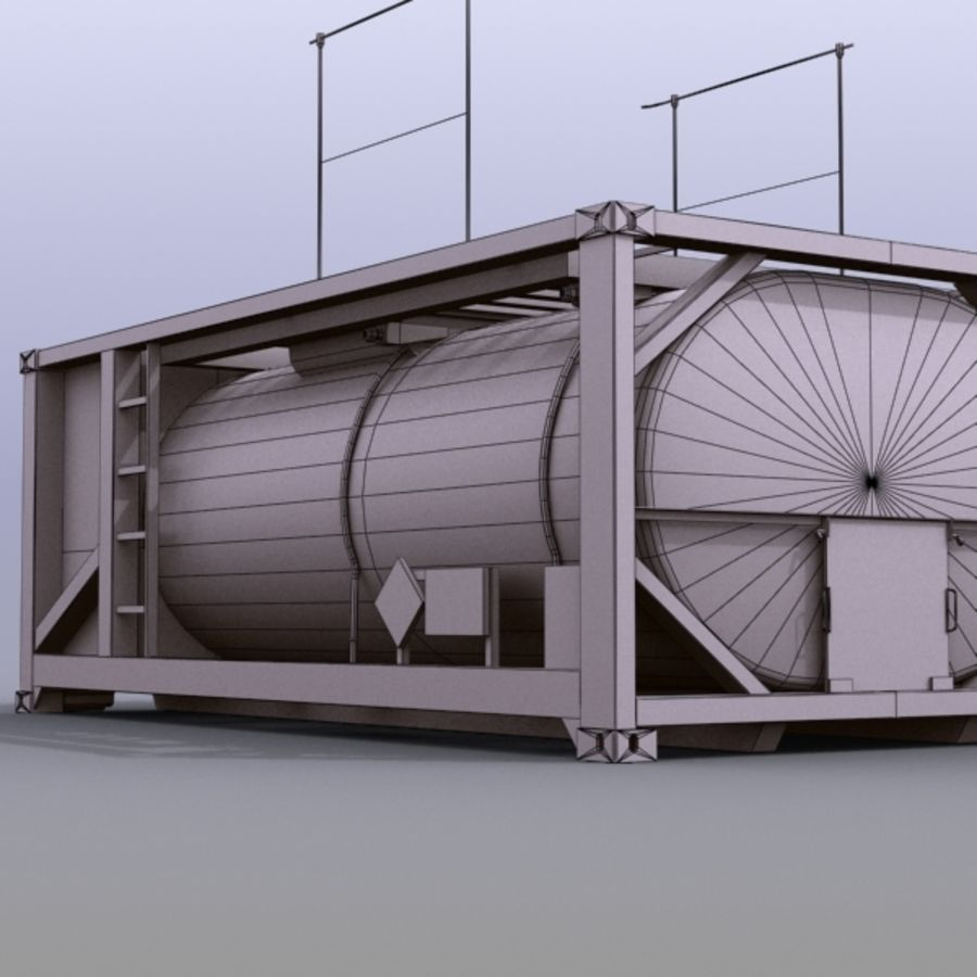Tank Container Long royalty-free 3d model - Preview no. 7