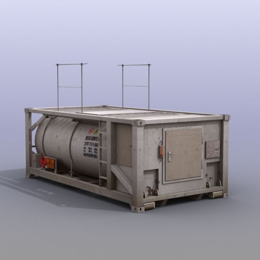 Tank Container Long royalty-free 3d model - Preview no. 2