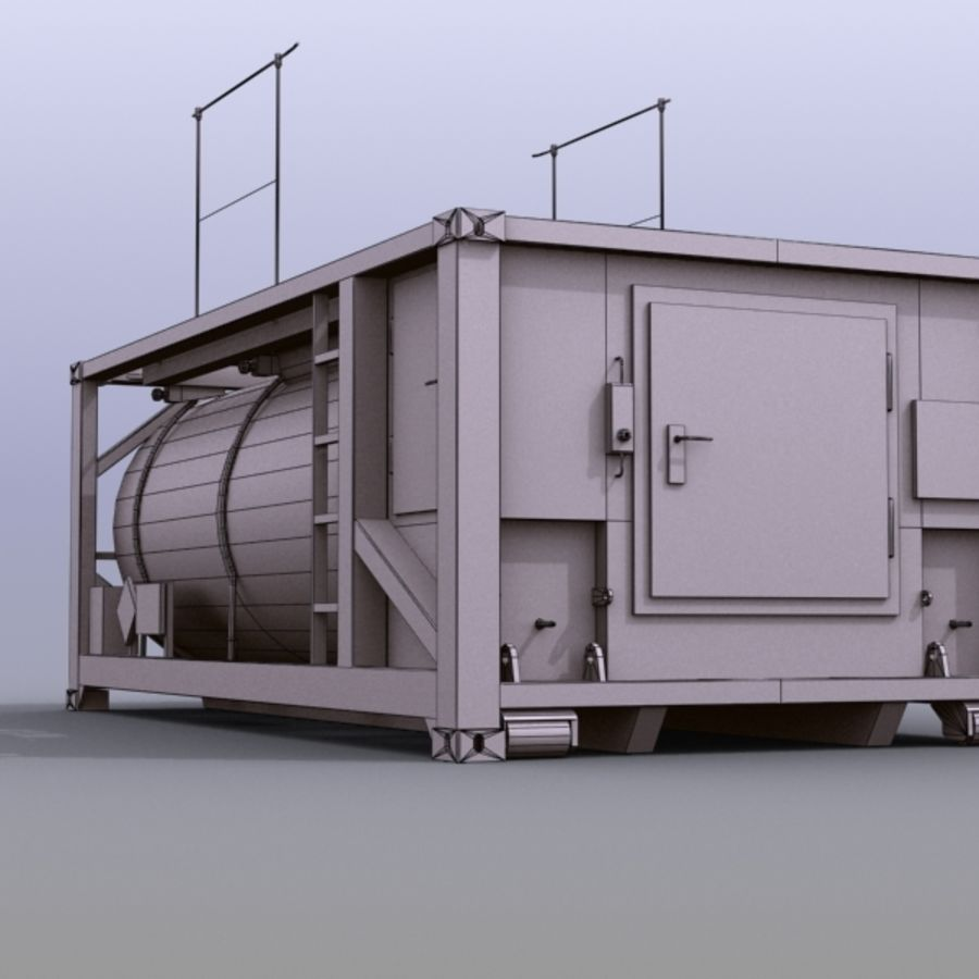Tank Container Long royalty-free 3d model - Preview no. 5