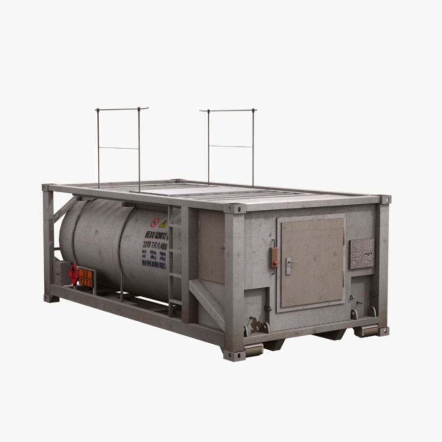 Tank Container Long royalty-free 3d model - Preview no. 1