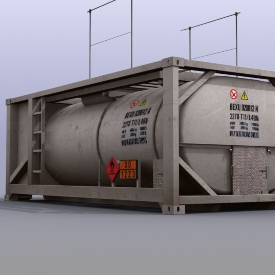 Tank Container Long royalty-free 3d model - Preview no. 6
