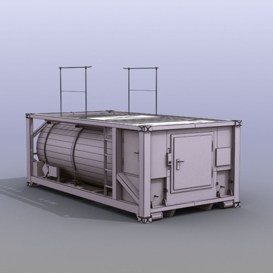 Tank Container Long royalty-free 3d model - Preview no. 3