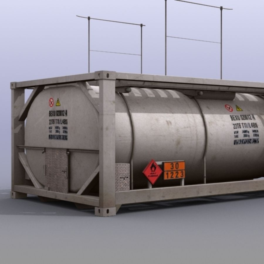 Tank Container Long royalty-free 3d model - Preview no. 8
