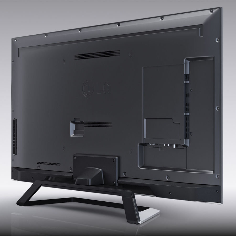 LG 55LM7600 led tv royalty-free 3d model - Preview no. 6