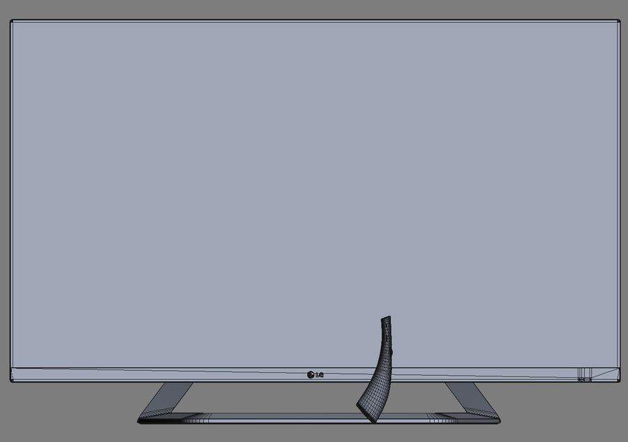LG 55LM7600 led tv royalty-free 3d model - Preview no. 20