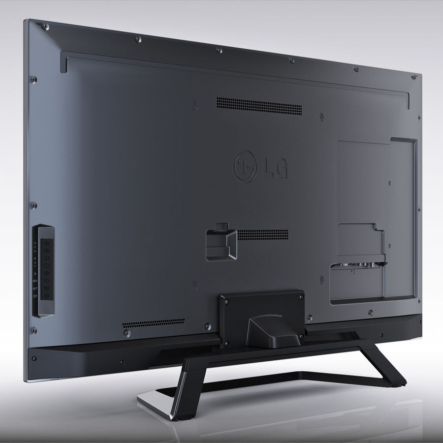 LG 55LM7600 led tv royalty-free 3d model - Preview no. 5