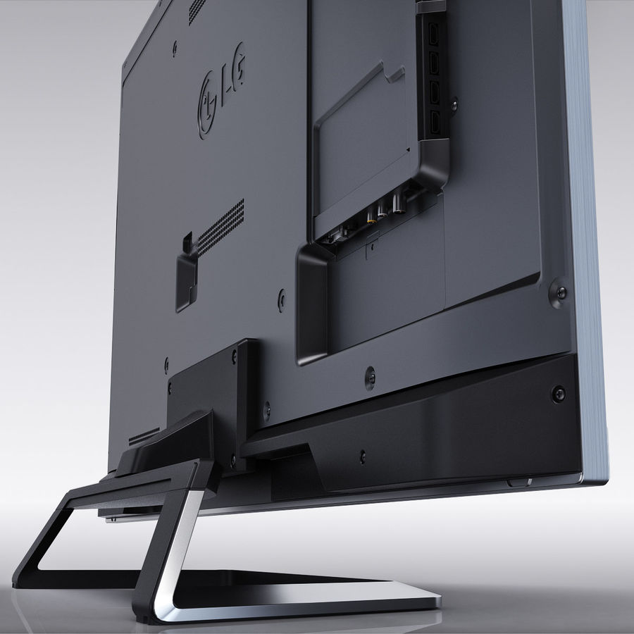 LG 55LM7600 led tv royalty-free 3d model - Preview no. 9