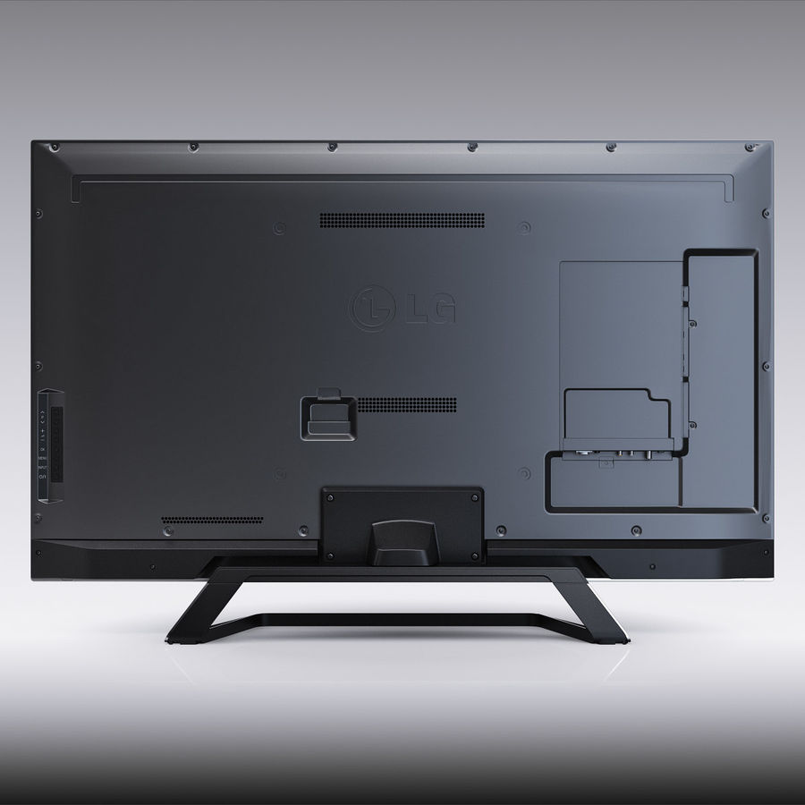 LG 55LM7600 led tv royalty-free 3d model - Preview no. 3