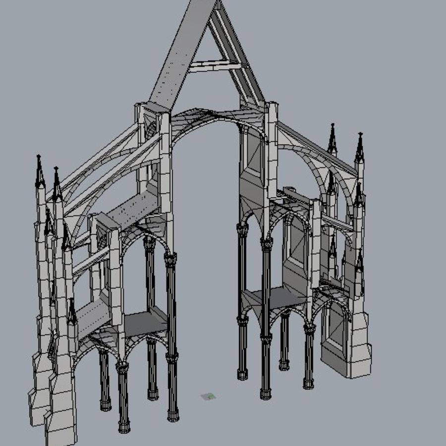 Notre Dame Sectie royalty-free 3d model - Preview no. 4