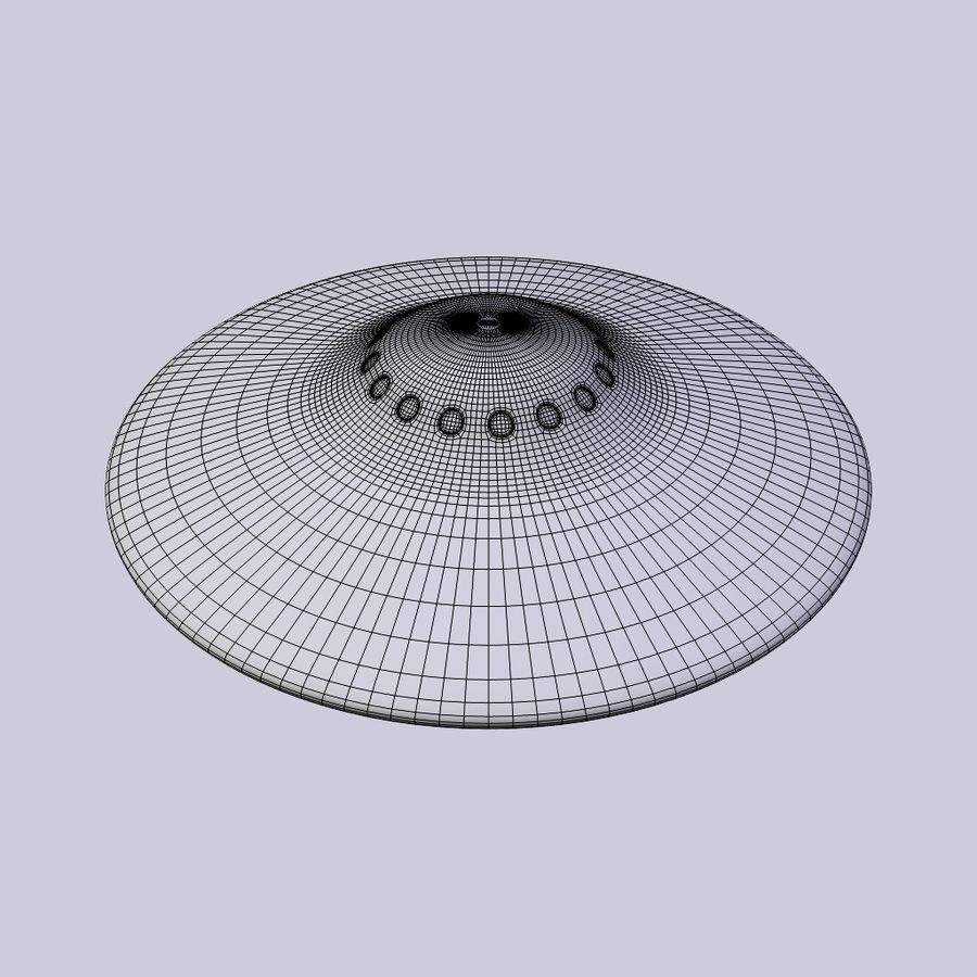 UFO royalty-free 3d model - Preview no. 6