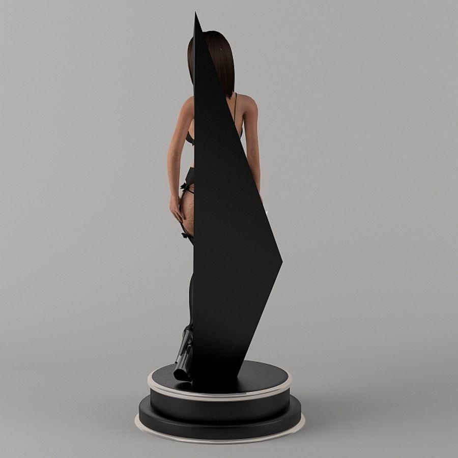 Fille en noir royalty-free 3d model - Preview no. 6
