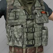 Bullet-Proof Vest & Cartridge-påse 3d model