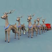 크리스마스 썰매 3d model