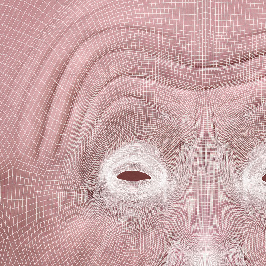 Old Man Head royalty-free 3d model - Preview no. 17