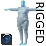 RIGGED肥胖男人基础网格高多边形 3d model