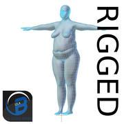 RIGGED肥胖女性基础网HIGH POLY 3d model