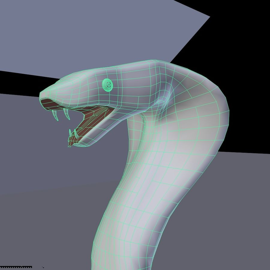 眼镜蛇 royalty-free 3d model - Preview no. 9