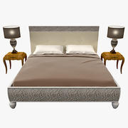 Bizzotto Rebecca bed with nightstands 3d model
