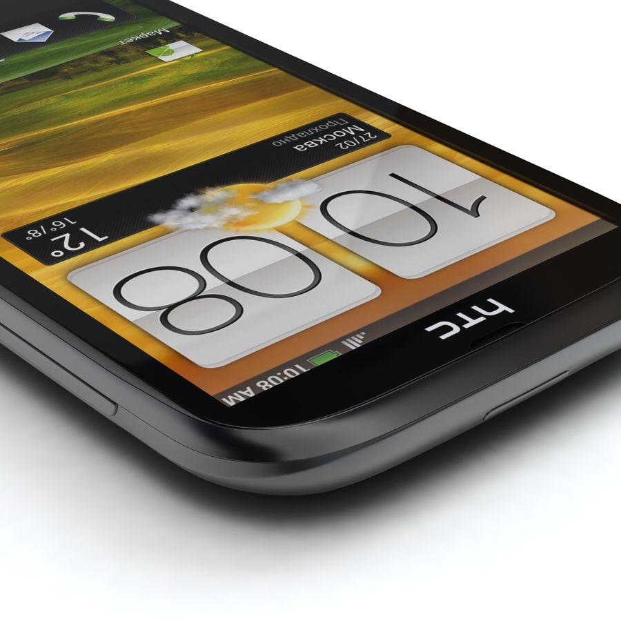 HTC Desire V Schwarz royalty-free 3d model - Preview no. 7