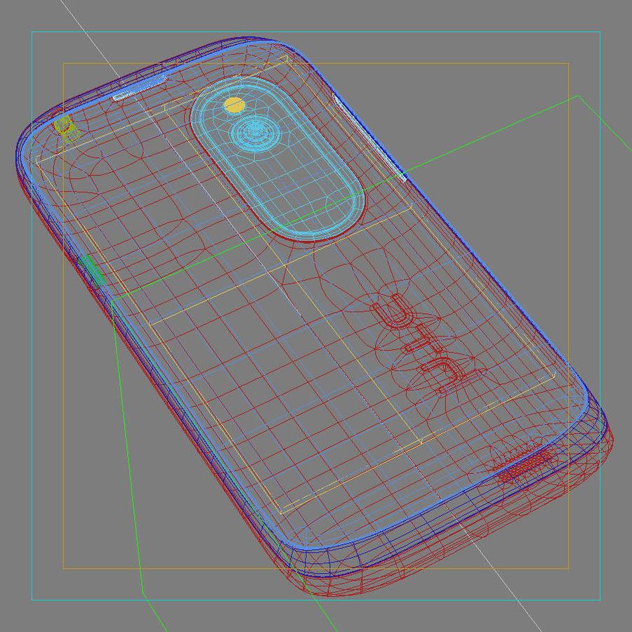 HTC Desire V Schwarz royalty-free 3d model - Preview no. 26