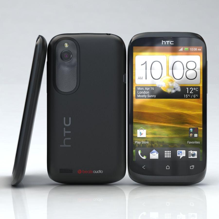 HTC Desire V Schwarz royalty-free 3d model - Preview no. 1