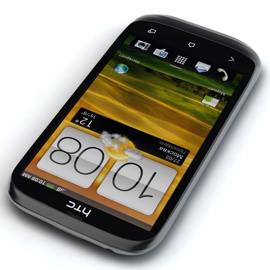 HTC Desire V Schwarz royalty-free 3d model - Preview no. 5