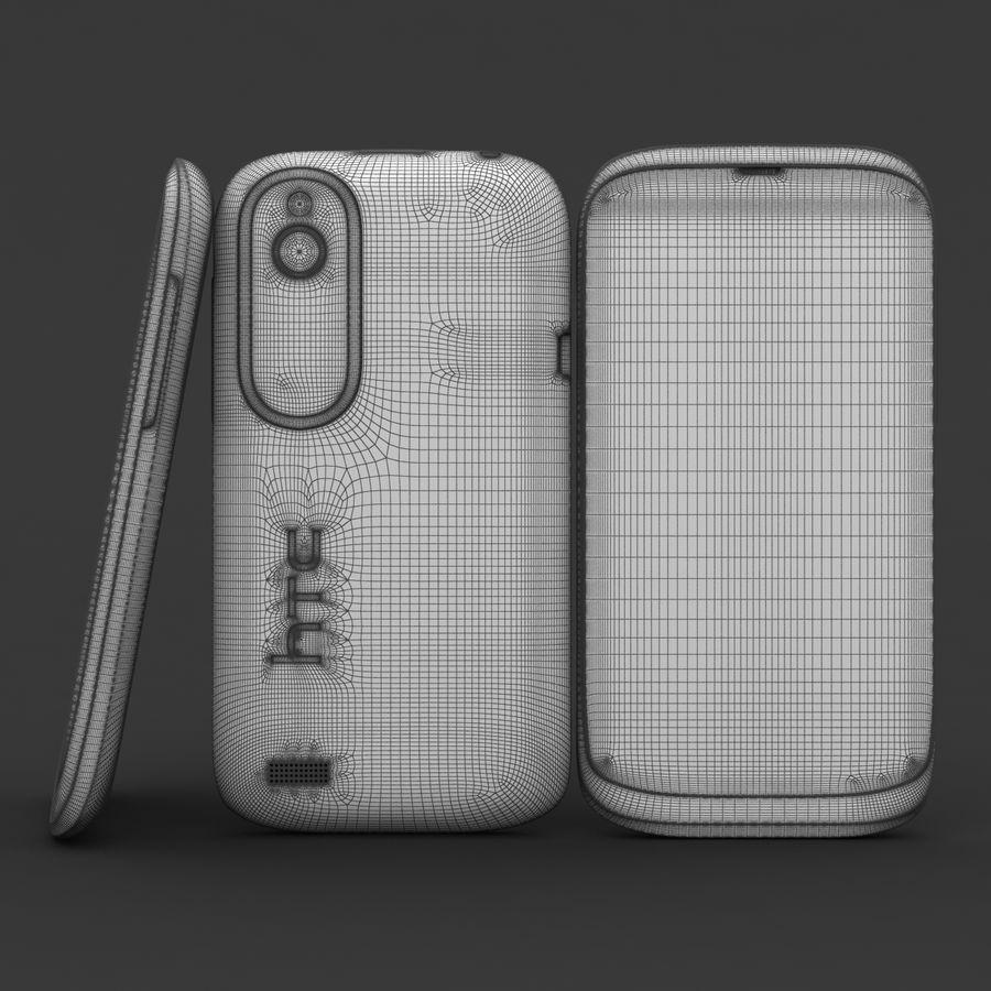 HTC Desire V Schwarz royalty-free 3d model - Preview no. 19