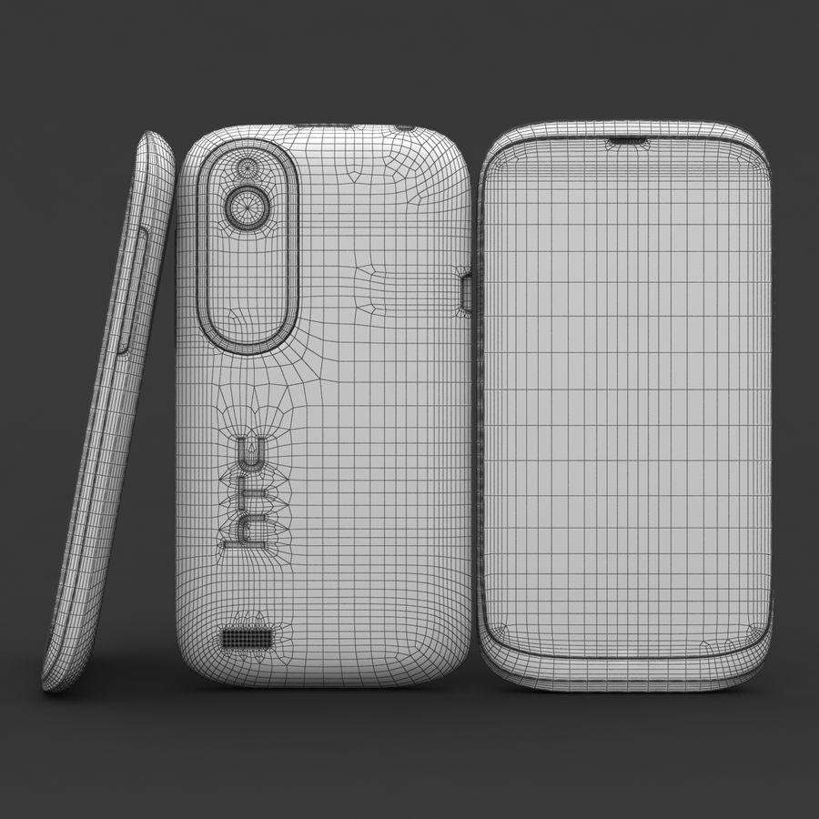 HTC Desire V Schwarz royalty-free 3d model - Preview no. 20