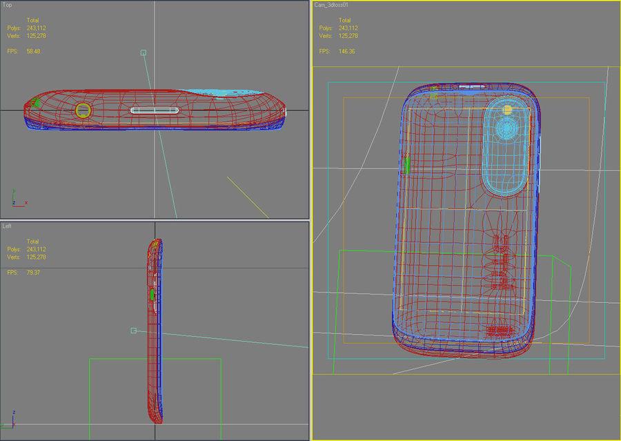 HTC Desire V Schwarz royalty-free 3d model - Preview no. 27