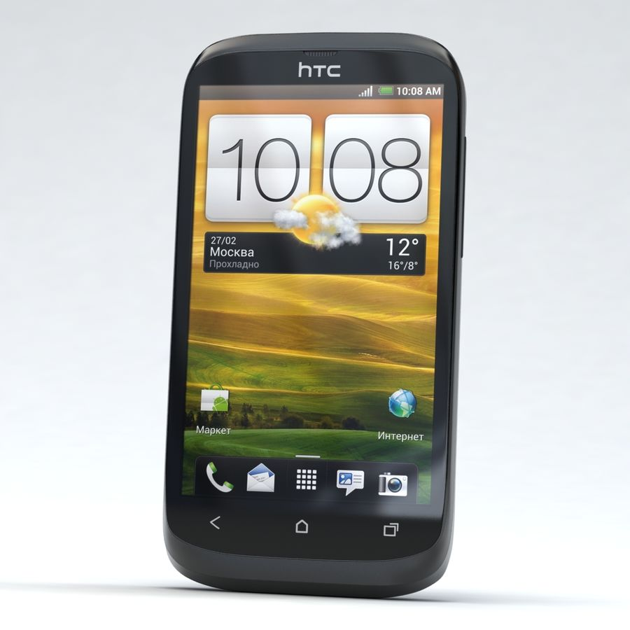 HTC Desire V Schwarz royalty-free 3d model - Preview no. 2