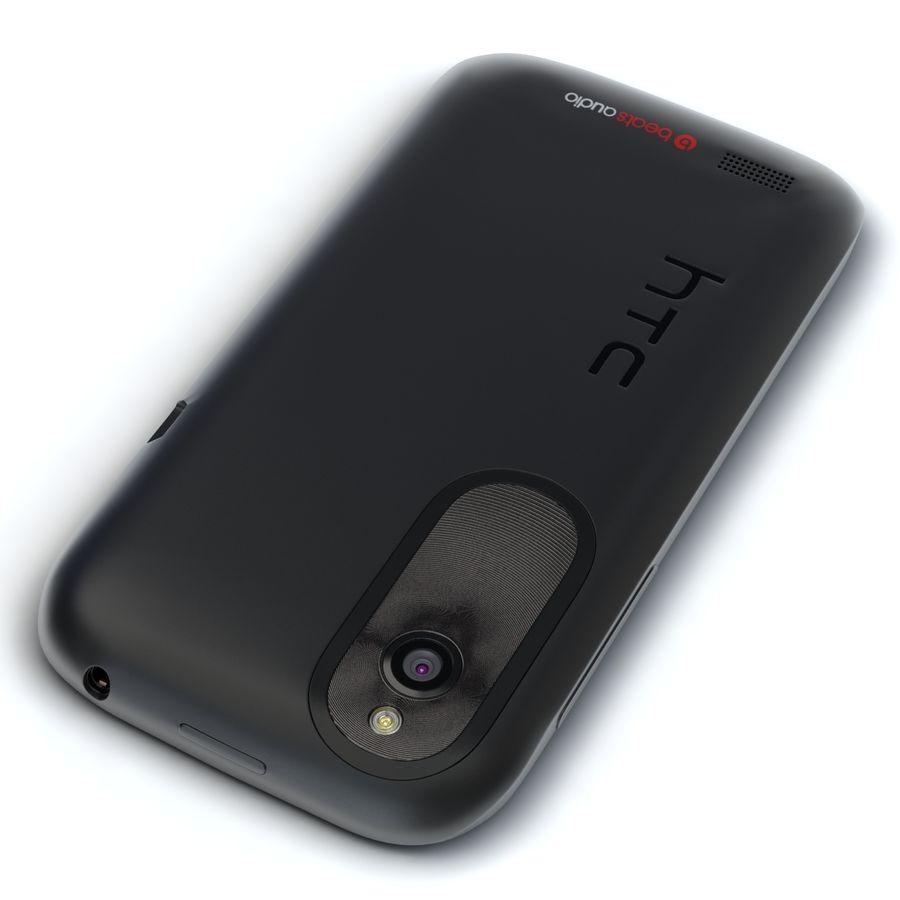 HTC Desire V Schwarz royalty-free 3d model - Preview no. 8