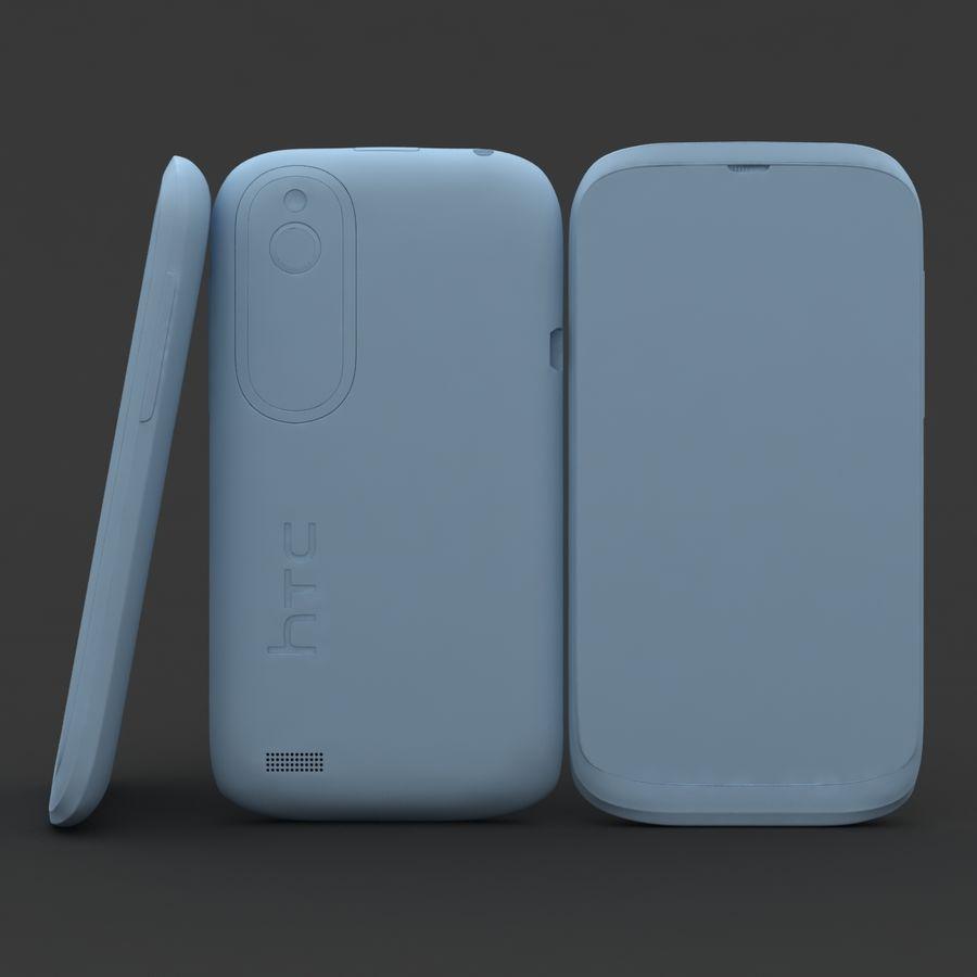 HTC Desire V Schwarz royalty-free 3d model - Preview no. 18