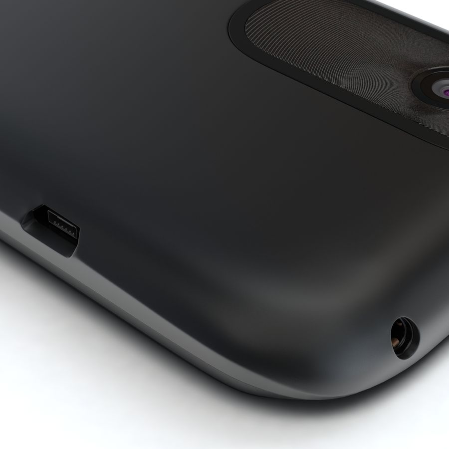 HTC Desire V Schwarz royalty-free 3d model - Preview no. 11