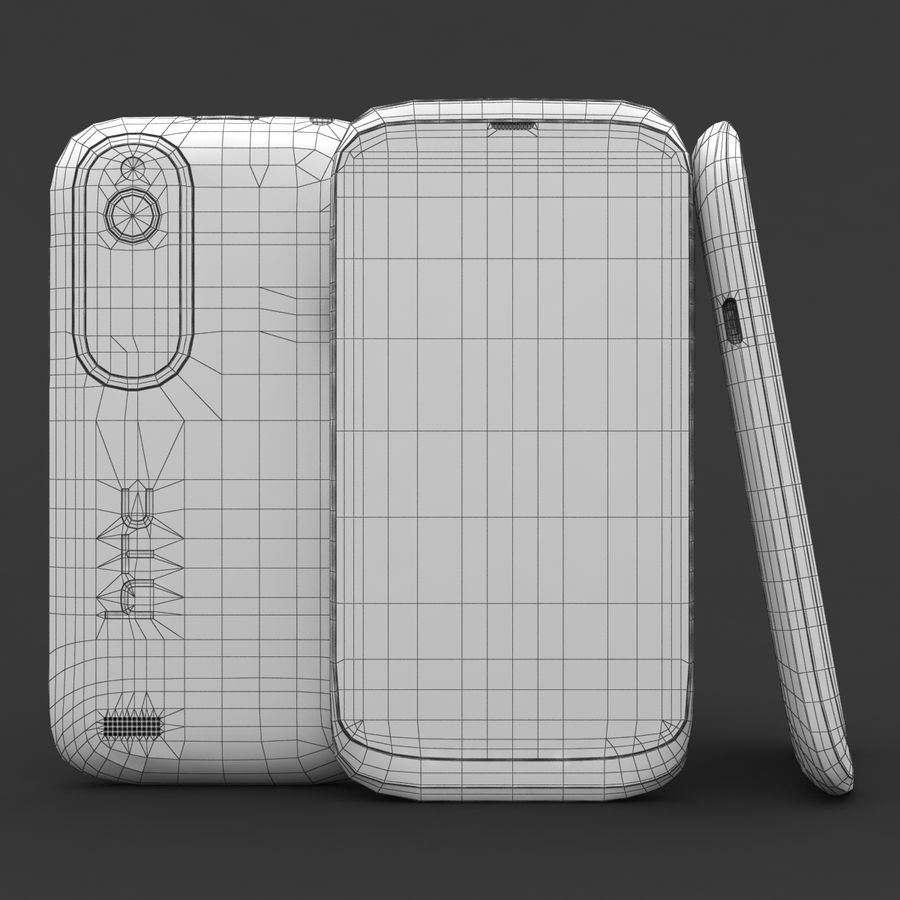 HTC Desire V Weiß royalty-free 3d model - Preview no. 22