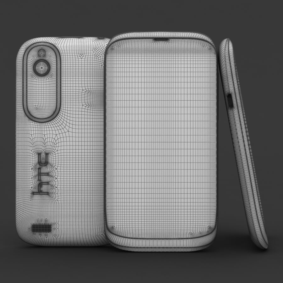 HTC Desire V Weiß royalty-free 3d model - Preview no. 20
