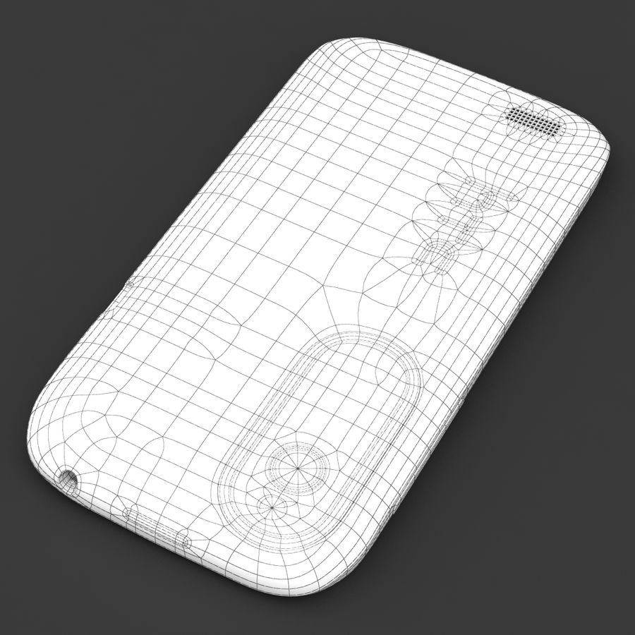 HTC Desire V Weiß royalty-free 3d model - Preview no. 25