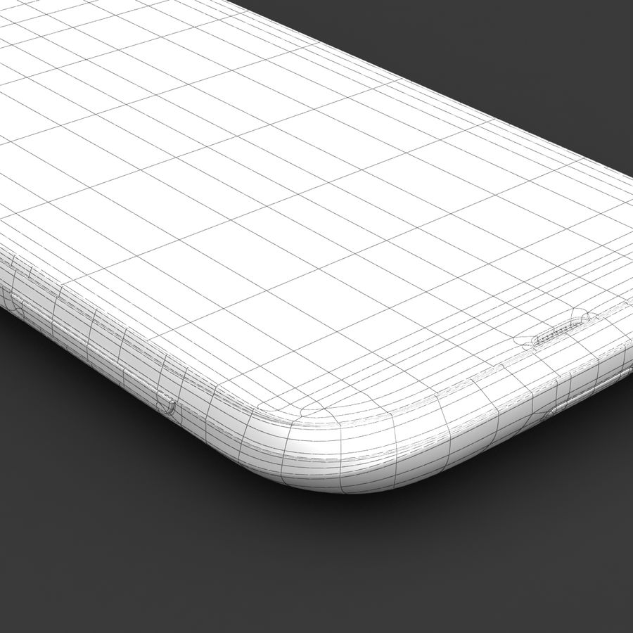 HTC Desire V Weiß royalty-free 3d model - Preview no. 24
