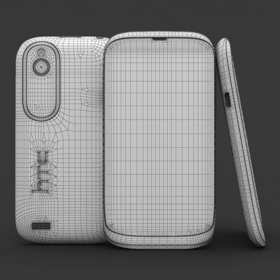 HTC Desire V Weiß royalty-free 3d model - Preview no. 21