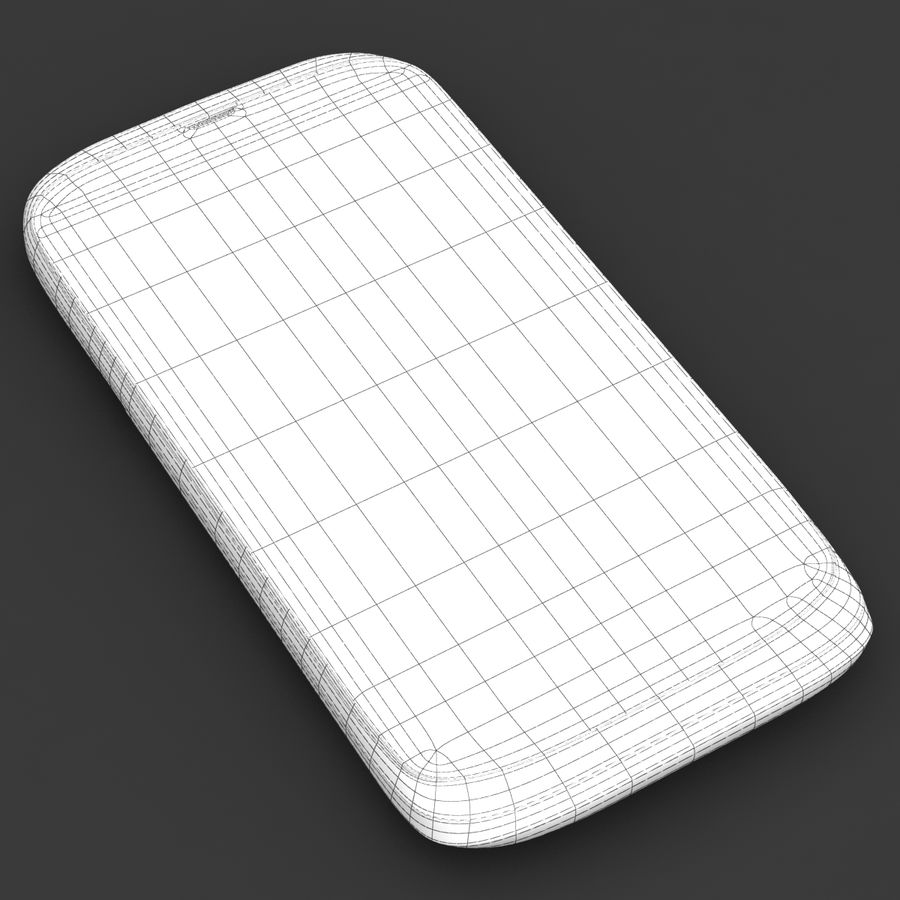 HTC Desire V Weiß royalty-free 3d model - Preview no. 23