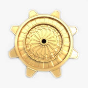 Golden Cog 3d model