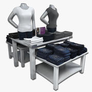 여자의 청바지 테이블 3d model