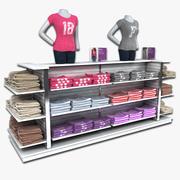 여성용 티셔츠 Dislay Rack 3d model