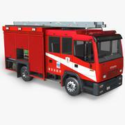 Firetruck japonês 3d model
