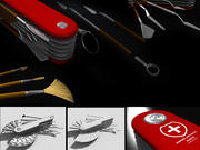 Swiss Art Knife 3d model