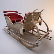 Trineo de santa modelo 3d